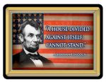 "New Square Abraham Lincoln Quotation Fridge Magnet ""A House Divided """